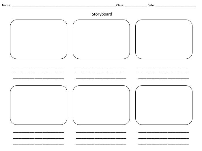 8 Best Images of Blank Storyboard Worksheet - Blank Storyboard ...